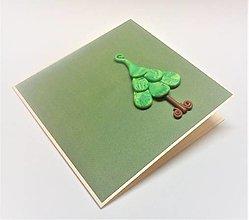 Papiernictvo - Pohľadnica ... vianočný stromček - 13796507_