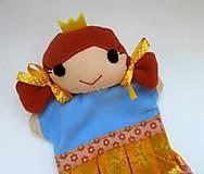 Hračky - Maňuška princezná (v žltokvietkovej sukienke) - 13796075_
