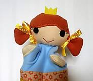 Hračky - Maňuška princezná (v žltokvietkovej sukienke) - 13796078_