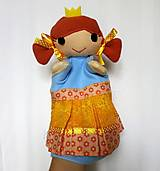 Hračky - Maňuška princezná (v žltokvietkovej sukienke) - 13796079_