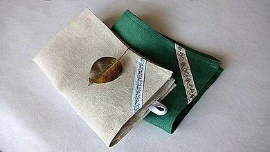 Úžitkový textil - Utierka ľanová - 44x27 cm - 13795083_