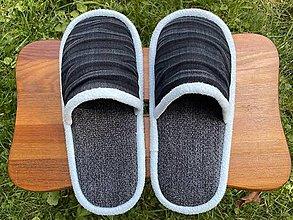 Obuv - Malé šedé papuče - 13793791_