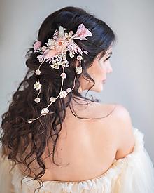 """Ozdoby do vlasov - Kvetinová aplikácia """"keď svitá v srdci"""" - 13795615_"""