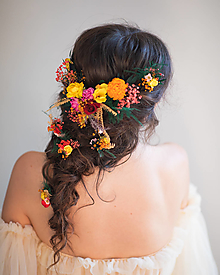 """Ozdoby do vlasov - Kvetinová aplikácia a vlásenky """"tajomstvá v lístí"""" - 13795787_"""