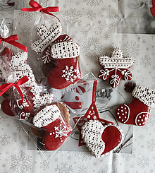 Dekorácie - Vianočný perníkový set - 3 ks - 13792913_