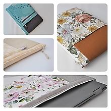 Na notebook - Obal na notebook zipsovací NA MIERU (vzorkovnica látok) - 13797270_