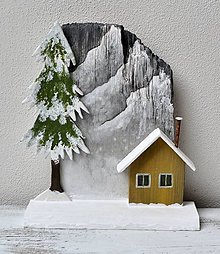 Dekorácie - Zimná dekorácia-Vianoce na horách - 13794379_