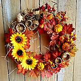 Dekorácie - Jesenný veniec - 13793003_