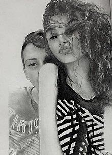 Kresby - Portréty-dvojice - 13795447_