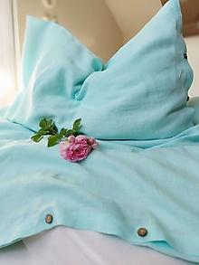 Úžitkový textil - Ľanové obliečky Simply Fresh Mint - 13796579_