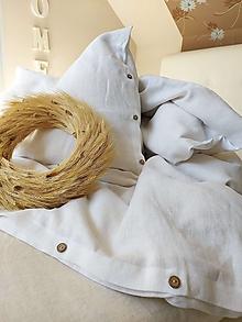 Úžitkový textil - Ľanové obliečky Simply Fresh White - 13796697_