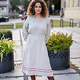 Šaty - Ľanové šaty Dobrava prírodná - 13799754_