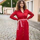 Šaty - Ľanové šaty Larisa červená - 13799897_