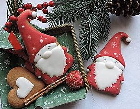 Dekorácie - Medovníkový vianočný škriatok - 13798997_