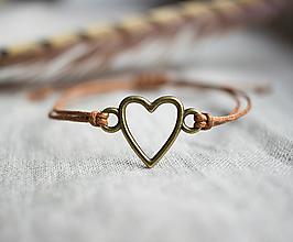 """Náramky - náramok """"srdce"""" - 13797785_"""