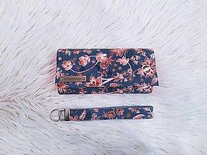 Peňaženky - Peňaženka terakotové cibuliaky na sivom - 13798412_