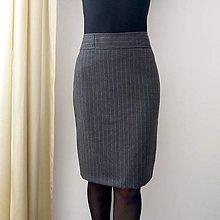 Sukne - Vlnená sukňa s mašličkou - 13798615_