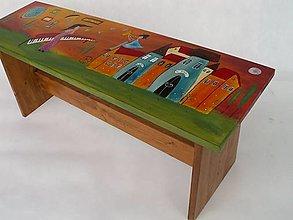 Nábytok - Miluje a maľuje - lavička - 13798480_