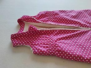 Textil - VLNIENKA Spací vak pre deti a bábätká 100% MERINO Top XS/S/M/L/XL/XXL Bodka Pink - 13800757_