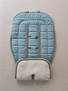 Textil - VLNIENKA podložka do kočíka BUGABOO  Buffalo / Cameleon / Donkey 100% WOOL Seat Liner 100% ľan Mint - 13801061_