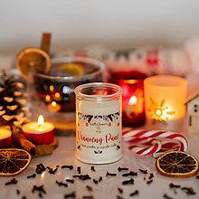 Svietidlá a sviečky - Sviečka zo sójového vosku v skle - Vianočná Punč 125g/30hod - 13797428_
