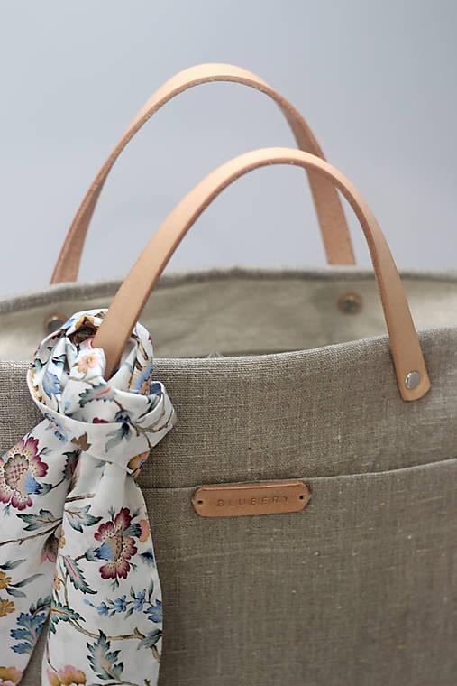 """Veľká dámska kabelka z prírodného nepremokavého ľanu """"Nature"""""""