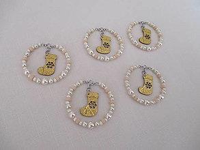 Dekorácie - Závesné šperkové dekorácie - vianočné - čižmičky - 5 kusov - 13799914_