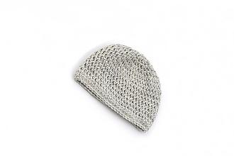 Detské čiapky - Sivá čiapka ALPACA - 13798639_