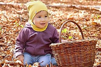 Detské súpravy - Jarný set Bavlna / Ľan -natural s iniciálkou - 13797883_