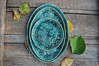 Nádoby - Keramické tácky Folklór - 13800797_