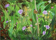 Obrazy - Maľovaný obraz - Motýľ - 13801590_