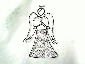 Dekorácie - Veľký anjel *23,5 cm - 13800886_