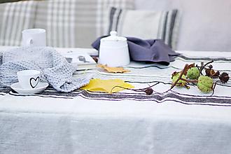 Úžitkový textil - Ľanový obrus - 13801150_