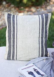 Úžitkový textil - Ľanová obliečka na vankúš - 13801205_