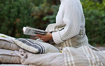 Úžitkový textil - Ľanový prehoz - 13801273_