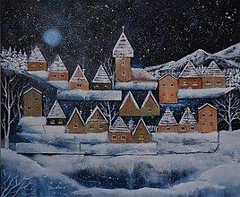 Obrazy - Na dedinu sype sneh 2 (recy) - 13804594_