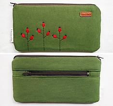 Peňaženky - Peňaženka vyšívaná - Šípky - 13802798_