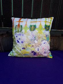 Úžitkový textil - Príchuť dobrej nálady-batikovaná obliečka - 13802423_