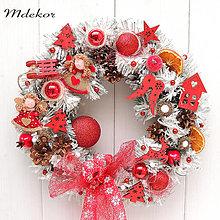 Dekorácie - Vianočný veniec zimná rozprávka - 13804505_