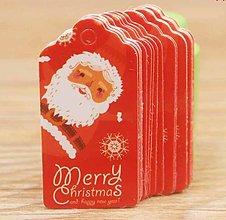 Papier - Visačka vianočná MINI 4x2 cm - 13804218_