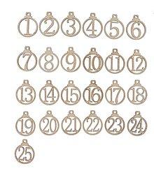 Polotovary - Čísla na adventný kalendár 3,5 x 4,3 cm - 13804253_