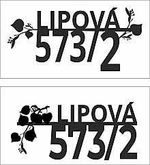 Tabuľky - Popisné číslo na želanie: Lipová ulica - 13802318_