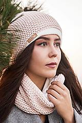 Čiapky - Zimný set Powder pink - 13804869_