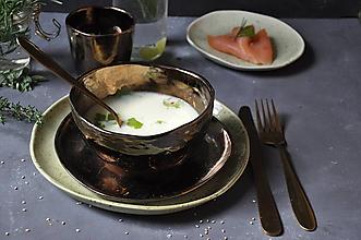 Nádoby - miska müsli, bowl kovová - 13804073_