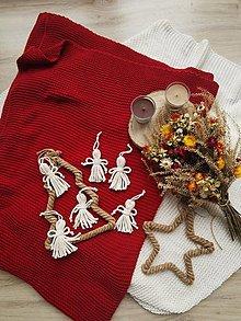 Dekorácie - Vianočná macramé ozdoba ANJELIK (5+1ks zdarma) - 13805120_