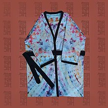 Župany - Kimono Blue - 13804459_