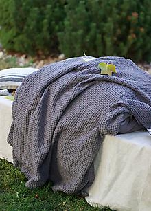 Úžitkový textil - Ľanový vaflový prehoz - 13804010_