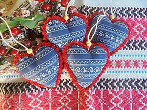 Dekorácie - Vianočné ozdoby folk - 13804220_