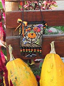 Taštičky - Halloweenska kapsička - 13804172_
