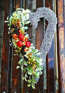 Dekorácie - Svietiace ovocné ❤️ jeseň - 13807836_